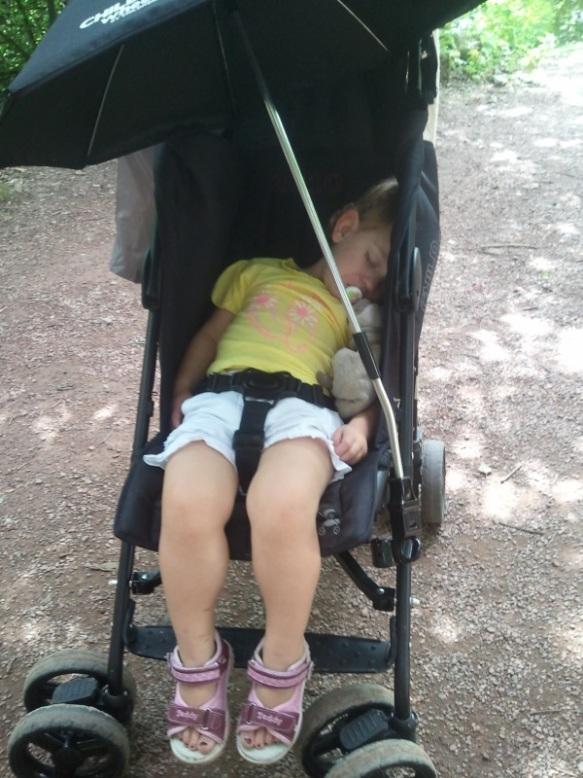 Lily slaapt in Plankendael